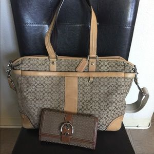 Coach diaper bag and wallet
